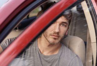 Self-Portrait in Car