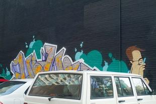 Street Art/Driver Exiting