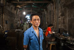 Tan, Worker in Fujiagou Tunnels