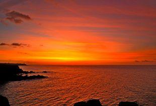 Albion Phare In Sunset