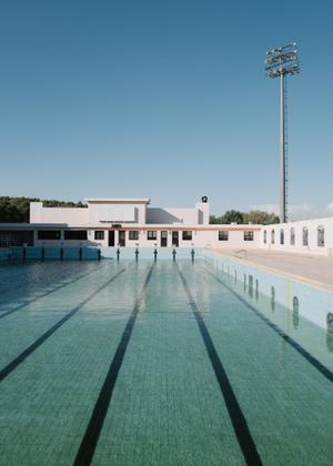 Pastel coloured pool