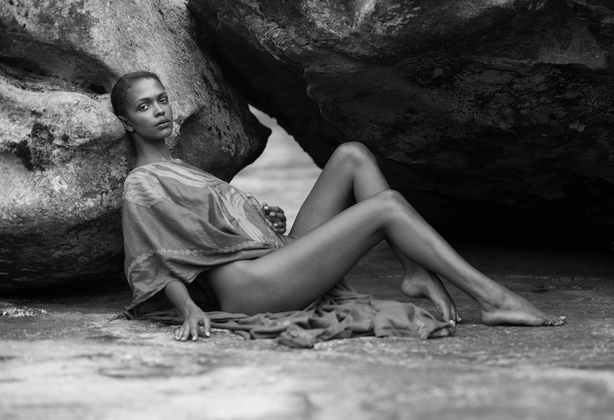 Reclining Beauty Within the Rocks
