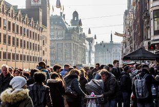 Crowds in Amsterdam, Netherlands