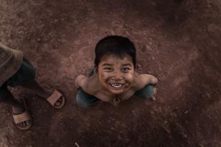 Laotian children's eyes