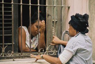 Cuban women talking