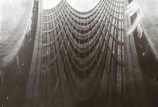 Large format Anamorphic pinhole shot of Tel-Aviv municipality building