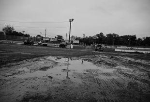 race track.