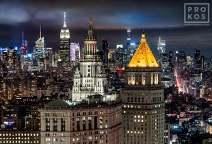 "<a href=""https://andrewprokos.com/photo/municipal-building-and-midtown-skyscrapers-night-4112/"">Municipal Building and Midtown Skyscrapers at Night</a>"