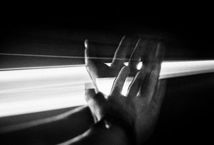 My Hand in a Tunnel, Border of Italy and France, 1999 © Jehsong Baak