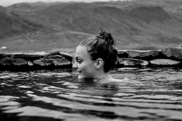 Swimming teenager