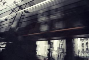In the tranway/Paris