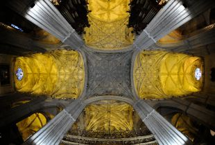 Gold & silver ceiling