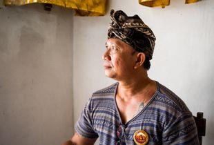 Portrait of a Balinese man