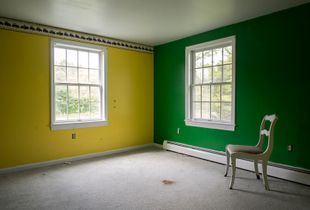 Furniture  left behind inside a foreclosed home in Plympton, Massachussets, United States