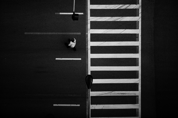 Chicago Crosswalk Overhead