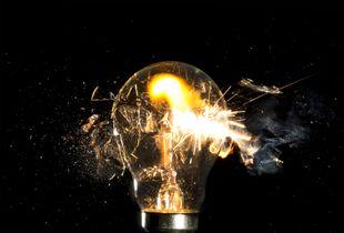 Bullet through lightbulb