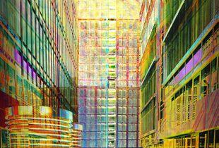 HafenCity through buildings 0482