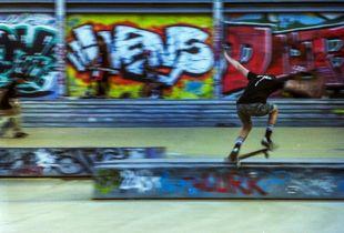 Blurry skater