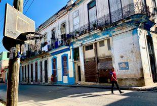 Cuban walking on the street