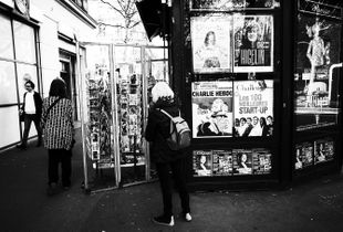 Behind the Parisian&the kiosk