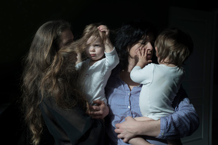 Véronique, Anne and their twins Angèle & Lucien, Brest (2013-2015)