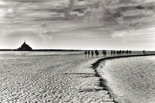 Walking in the bay.