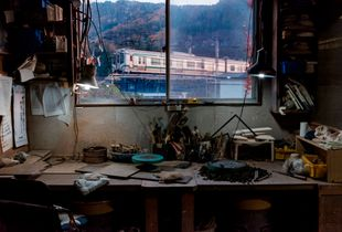 Rural Train at Dusk, The Potter of Yamadera's Studio