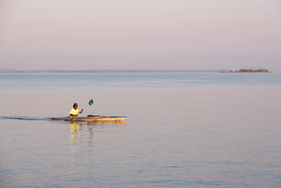 Early Morning Kayaker on Lake Kariba