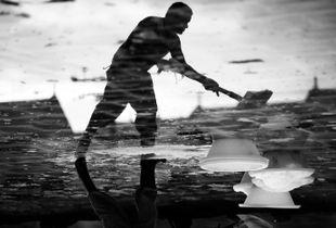 Reflection on the salt pan 1