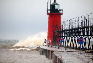 Foolish Visitors - South Haven Lighthouse, Michigan