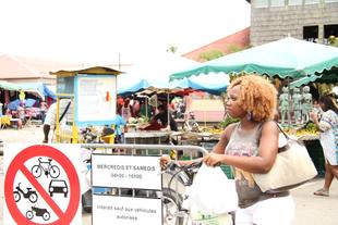welcome to St Laurent du maroni's market place.