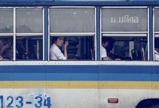 Beauty on a bus