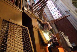 Xavier Silbermann organ in Thonon-les_Bains (France)