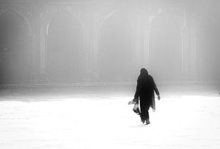 Lady in a Mosque complex.