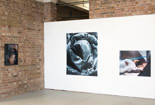 Installation of images from 'Coma', ArtWork Atelier, Salford, 2017