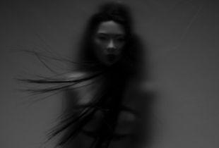 Ikuko in the wind