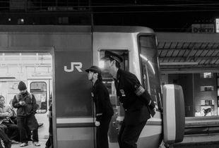 JR train conductors, Motomachi Station