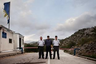 Miso, Kresimir and Stanislav. Border Police
