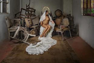 """Leyla, from the series Virgenes de la Puerta, 52""""x42"""", 2014"""