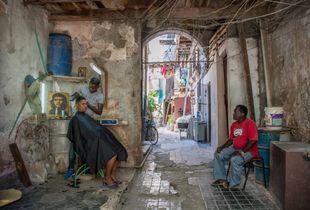 Barber's Shop in Old Havana