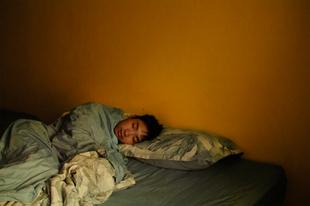 Eric, sleeping.