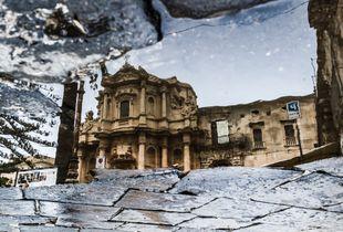 A Church in a puddle
