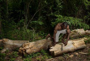 Man On Log