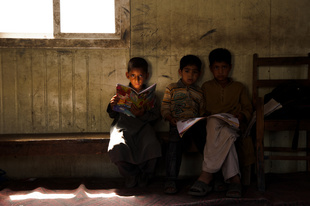 Students in a village