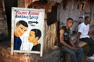 Young Rising Barbing Shop, Makeni, Sierra Leone