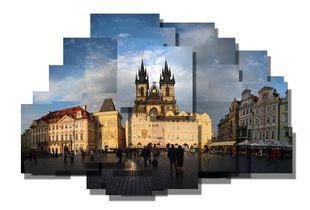 Prague Square Sunset