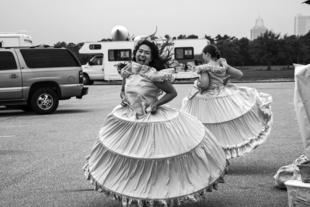 Hoop Skirt Girls