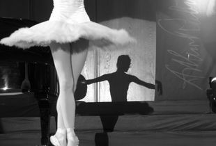 A ballerina and her reflection
