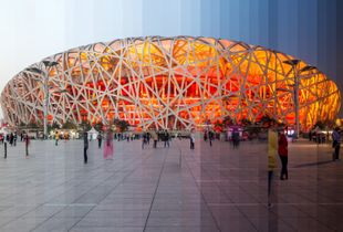 """Time Slice"" Birds Nest, Beijing, China"