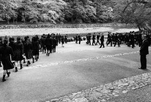 School pilgrimage to the sacred river Isuzu in Ise